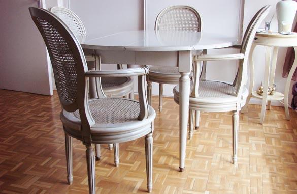 Table à volets en merisier