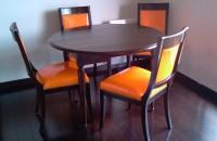 Table a volets en chene wenge
