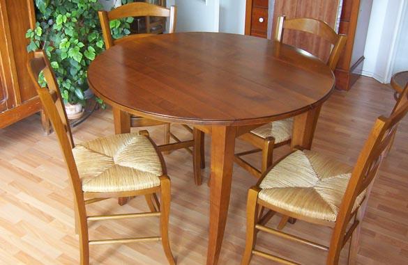 Table à volets en merisier massif