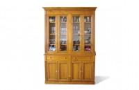 Bibliothèque Louis XVI portes vitrées merisier