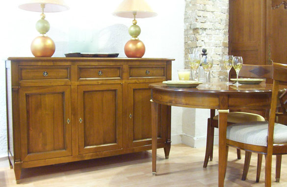 buffet directoire en merisier meubles hummel. Black Bedroom Furniture Sets. Home Design Ideas