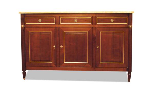 Buffet louis xvi merisier massif meubles hummel for Salle a manger louis xvi