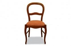 Chaise Louis Philippe assise tissu
