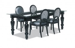 Chaise moderne noire ambiance