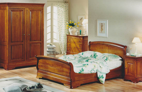 lit louis philippe en merisier meubles hummel. Black Bedroom Furniture Sets. Home Design Ideas