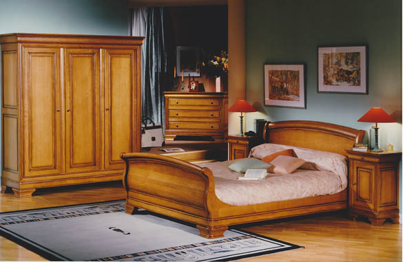chambre louis philippe en merisier ou ch ne meubles hummel. Black Bedroom Furniture Sets. Home Design Ideas