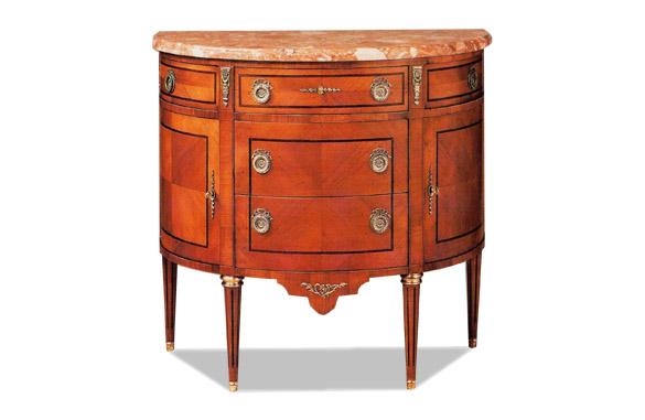 commode demi lune louis xvi marqueterie meubles hummel. Black Bedroom Furniture Sets. Home Design Ideas
