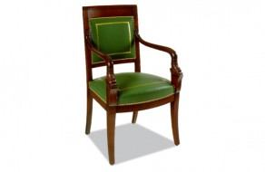 Fauteuil Empire cuir
