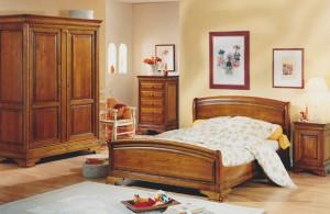 Lit pont louis philippe merisier meubles hummel - Chambre a coucher merisier ...