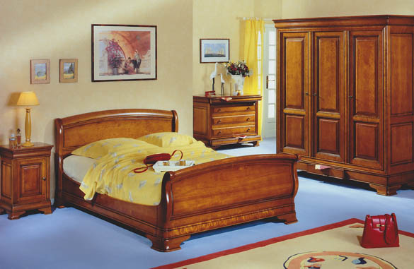 lit merisier louis philippe meubles hummel. Black Bedroom Furniture Sets. Home Design Ideas