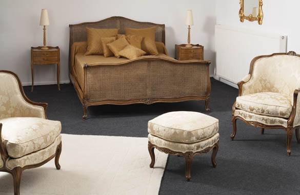 lit louis xv crosse canne meubles hummel. Black Bedroom Furniture Sets. Home Design Ideas