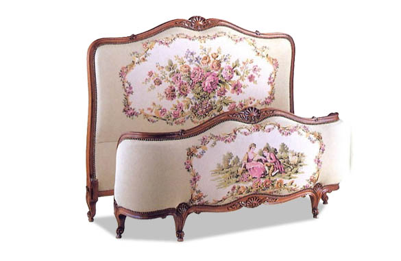 lit louis xv demi corbeille tissu copia meubles hummel. Black Bedroom Furniture Sets. Home Design Ideas