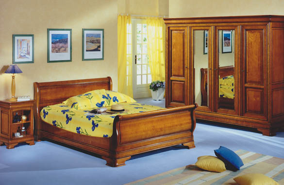 lit louis philippe merisier massif meubles hummel. Black Bedroom Furniture Sets. Home Design Ideas