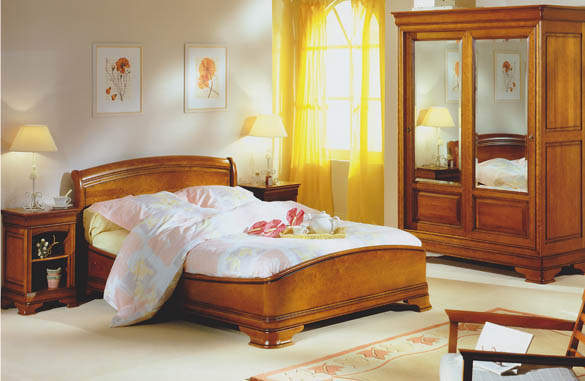 lit louis philippe socle galb merisier meubles hummel. Black Bedroom Furniture Sets. Home Design Ideas