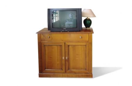 Meuble de télé hifi Louis XVI merisier