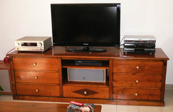 meuble de tv hifi sur mesure meubles hummel. Black Bedroom Furniture Sets. Home Design Ideas