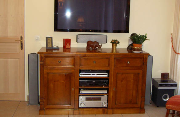 meuble tv hifi sur mesure meubles hummel. Black Bedroom Furniture Sets. Home Design Ideas
