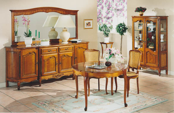 salle a manger louis xv merisier meubles hummel. Black Bedroom Furniture Sets. Home Design Ideas