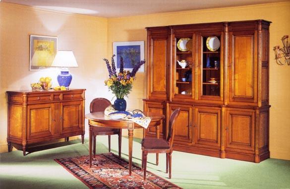 Salle a manger louis xvi merisier massif meubles hummel for Living salle a manger