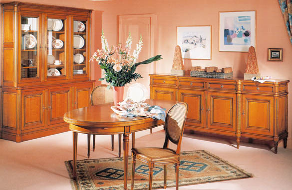 salle manger louis xvi merisier meubles hummel