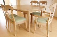 Table à volets chêne ceruse
