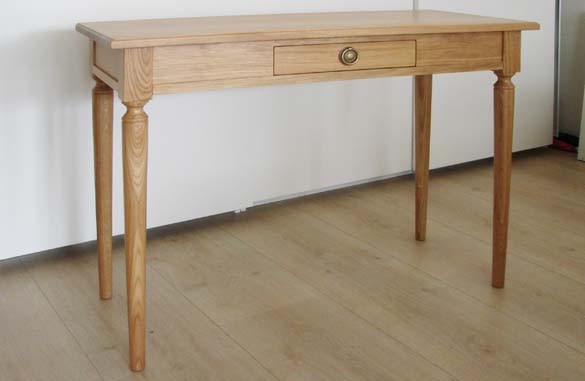 Table console extensible avec allonges meubles hummel for Table chene massif extensible