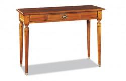 Table console extensible merisier Louis XVI