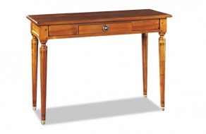 Table console extensible merisier Louis XVI
