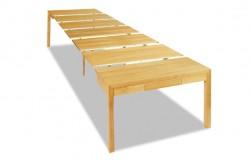 Table console extensible moderne en chêne