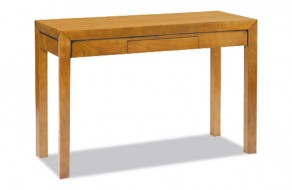Table console extensible moderne en merisier