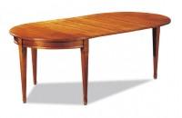Table demi lune Directoire en merisier