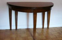 Table demi-lune Directoire