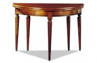 Table demi lune avec allonges meubles hummel for Table demi lune avec rallonge