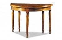 Table demi-lune avec allonges