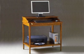 Table informatique en merisier