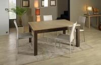 Table moderne chêne bicolore