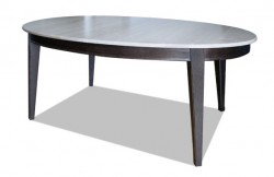 Table ovale chêne massif bicolore