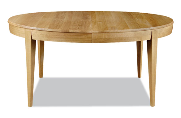 Table ovale en ch ne massif meubles hummel - Table ovale avec rallonges ...