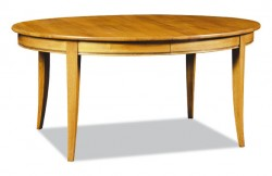 Table ovale directoire en merisier meubles hummel for Table ovale avec allonges