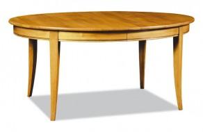 Table ovale en chêne ou merisier avec allonges