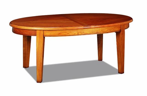 Table ovale rustique en chêne