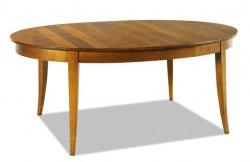 Table ovale en merisier ou chêne