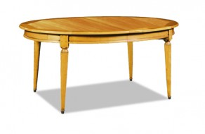 Table ovale Louis Philippe en merisier