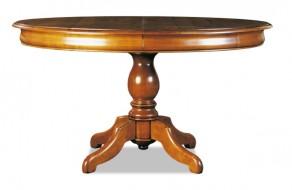 Table ovale pied central chêne ou merisier