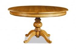 Table ovale pied central merisier ou chêne