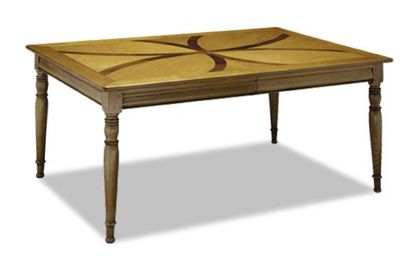 Table rectangulaire avec allonge en merisier