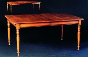 Table rectangulaire avec allonges en merisier