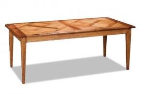 Table rectangulaire chêne parquetée
