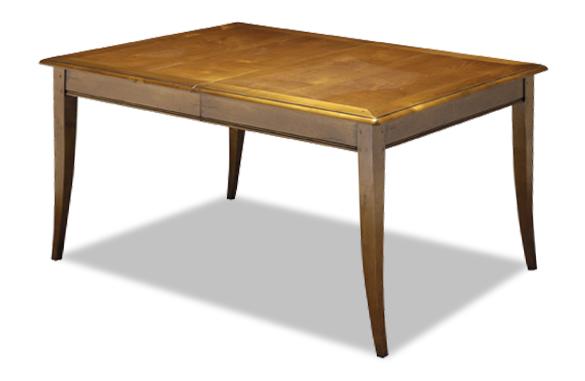 Table rectangulaire merisier avec allonge