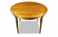 Table ronde avec emboiture merisier